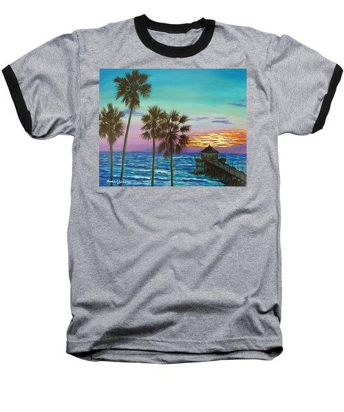 Surf City Sunset Baseball T-Shirt