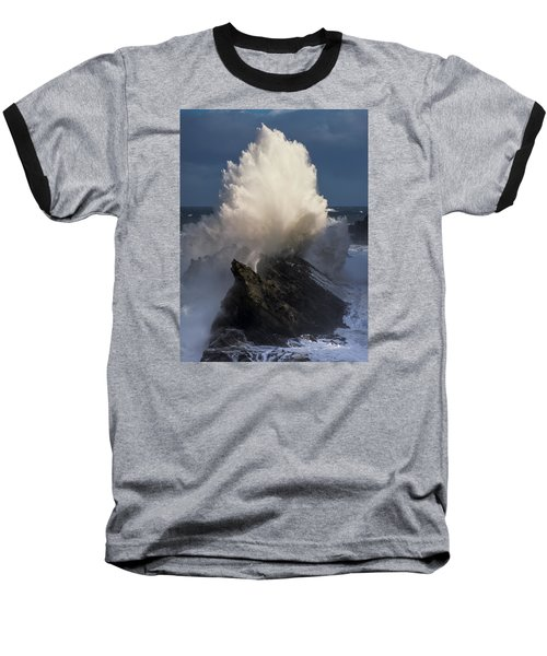 Surf Eruption Baseball T-Shirt