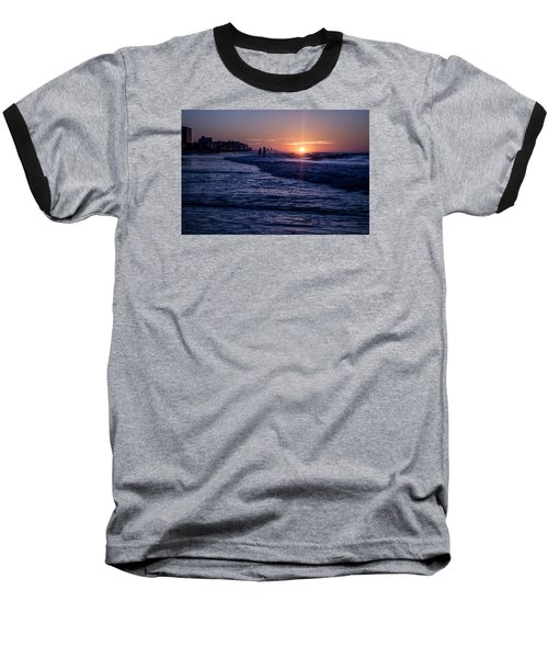 Surf Fishing At Sunrise Baseball T-Shirt