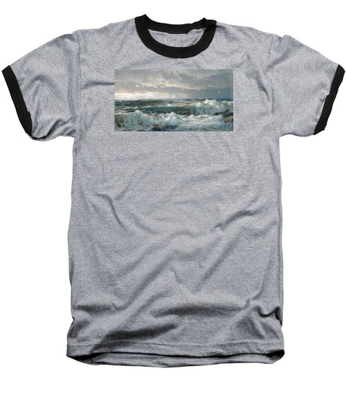 Surf On The Rocks Baseball T-Shirt