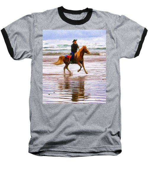 Baseball T-Shirt featuring the photograph Surf Rider by Wendy McKennon