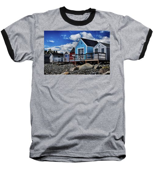 Surf Shacks Baseball T-Shirt by Tricia Marchlik