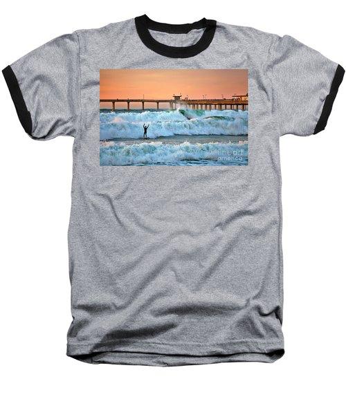 Surfer Celebration Baseball T-Shirt