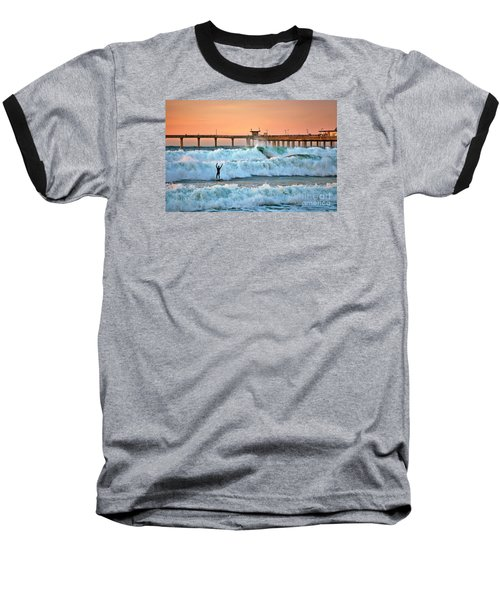 Surfer Celebration Baseball T-Shirt