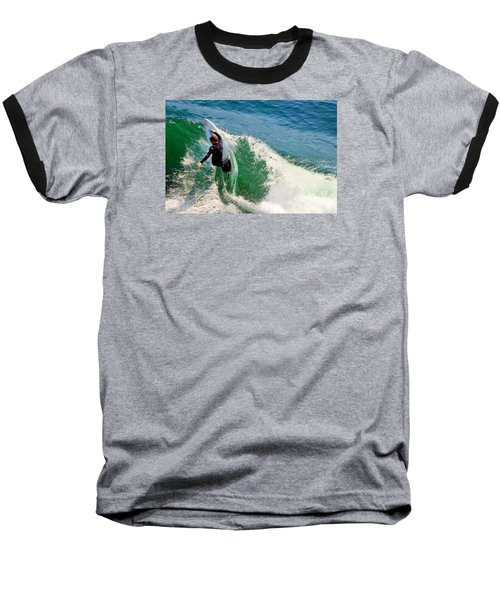 Surfer, Steamer Lane, Series 18 Baseball T-Shirt