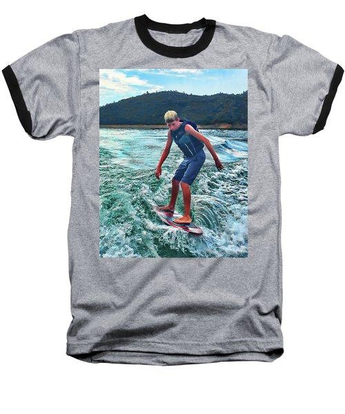 Surfer Tate Baseball T-Shirt