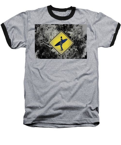 Surfer Xing Baseball T-Shirt