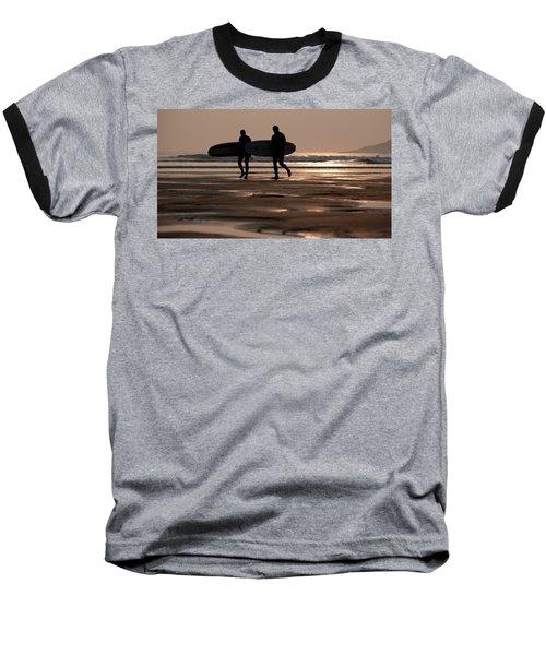 Surfers At Sunset Baseball T-Shirt