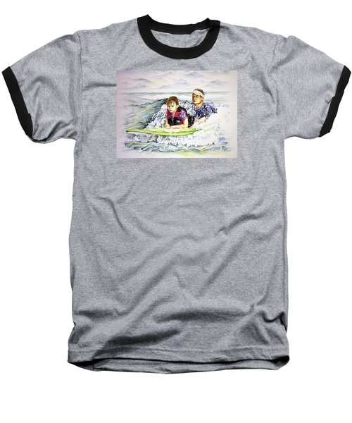 Surfers Healing Baseball T-Shirt by William Love