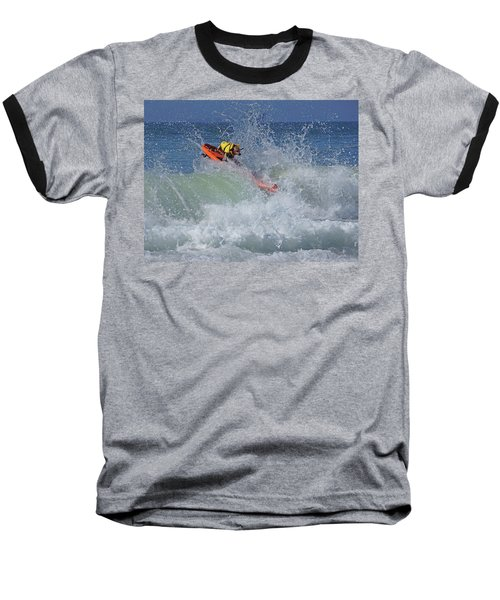 Surfing Dog Baseball T-Shirt by Thanh Thuy Nguyen
