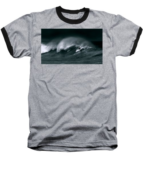 Surfing In Heavy Wind And Tide Baseball T-Shirt