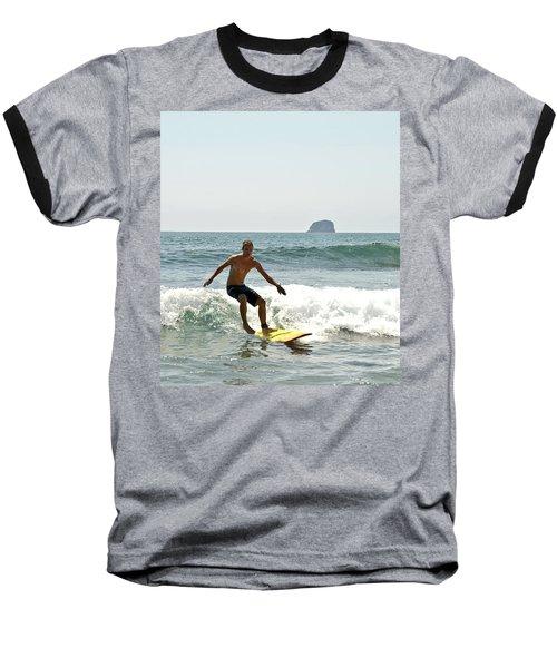 Surfing New Zealand Waves Baseball T-Shirt