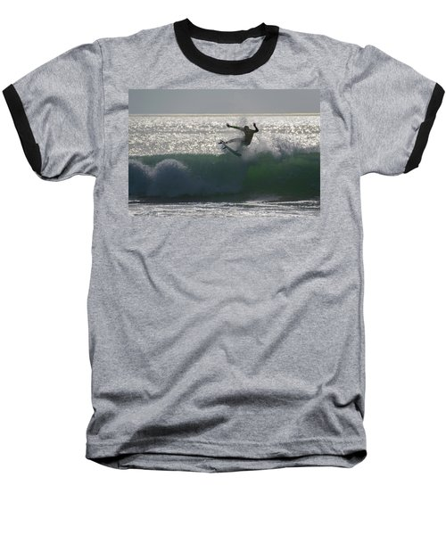 Surfing The Light Baseball T-Shirt by Thierry Bouriat