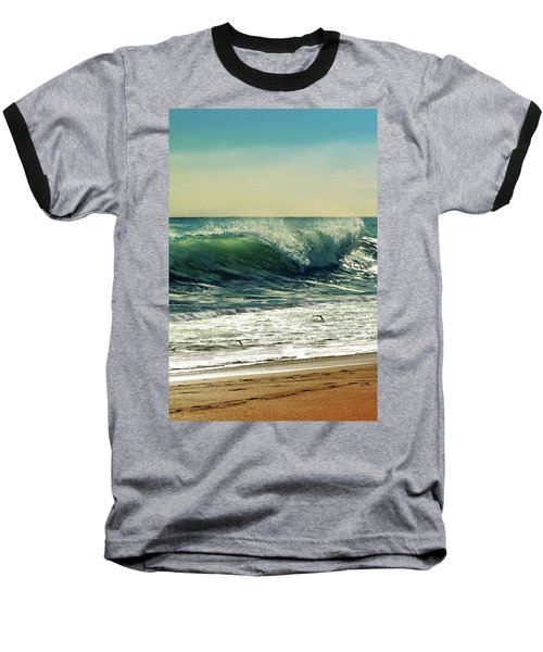 Baseball T-Shirt featuring the photograph Surf's Up by Laura Fasulo