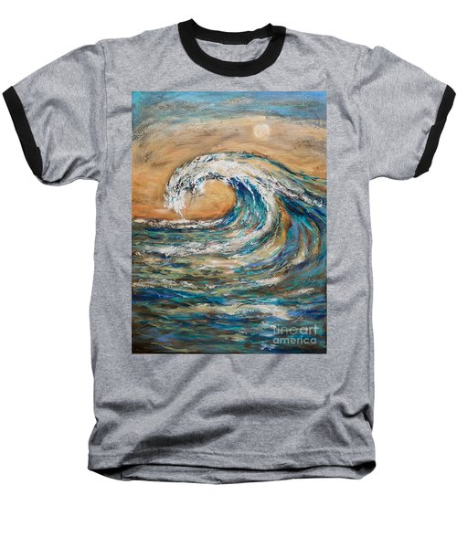 Baseball T-Shirt featuring the painting Surf's Up by Linda Olsen
