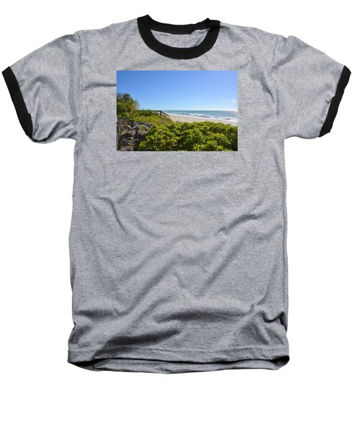 Surfs Up On Casey Key Beach Baseball T-Shirt