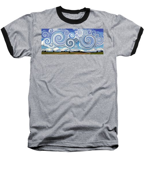 Surreal Cloud Blue Baseball T-Shirt