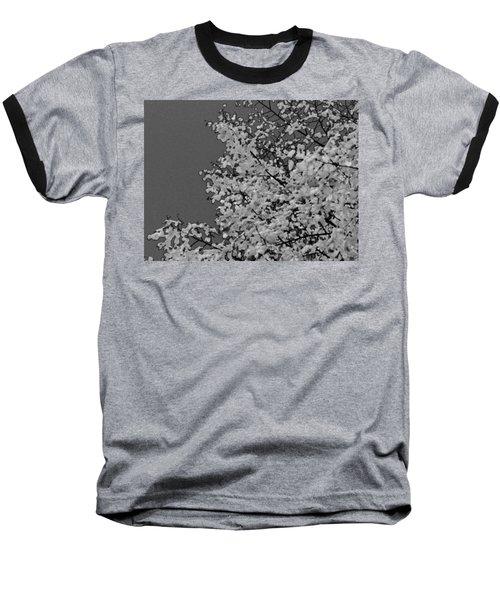 Surreal Deconstruction Of Fall Foliage In Noir Baseball T-Shirt