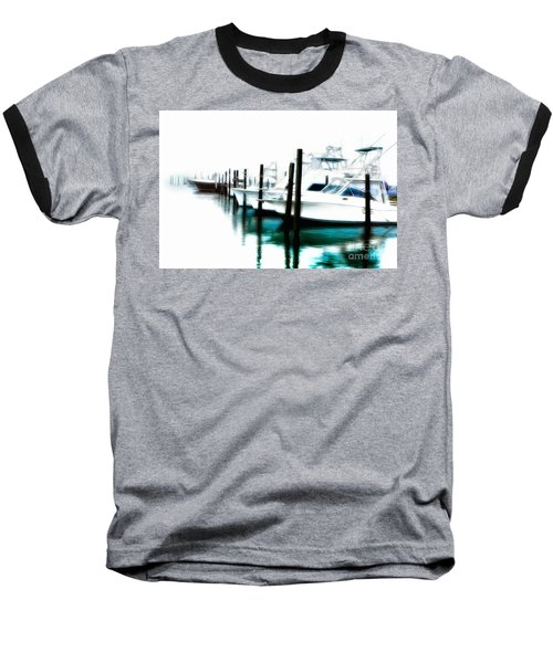 Surreal Fishing Boats In Outer Banks Marina Ap Baseball T-Shirt
