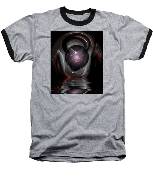 Surreal Reflections Baseball T-Shirt by Mario Carini