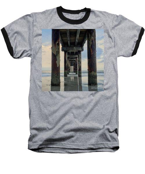 Surreal Sunday Sunrise Baseball T-Shirt by LeeAnn Kendall