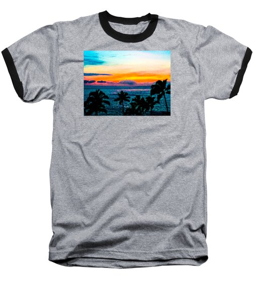Surreal Sunset Baseball T-Shirt by Russell Keating