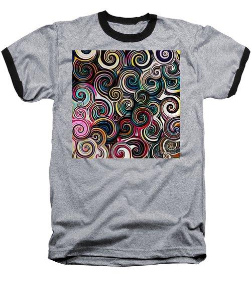 Surreal Swirl  Baseball T-Shirt