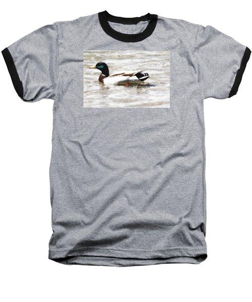 Surrealism Duck Baseball T-Shirt