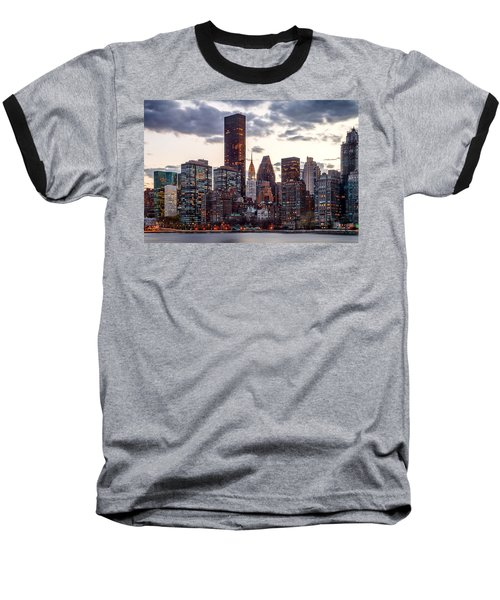 Surrounded By The City Baseball T-Shirt by Az Jackson