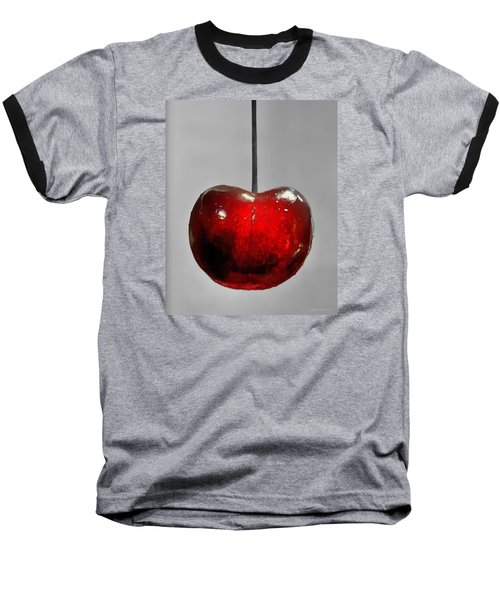 Suspended Cherry Baseball T-Shirt by Suzanne Stout