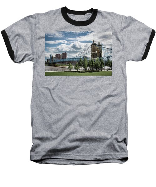 Suspension Bridge Color Baseball T-Shirt by Scott Meyer