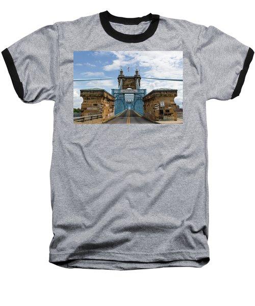 Suspension Bridge Wide Angel Baseball T-Shirt by Scott Meyer