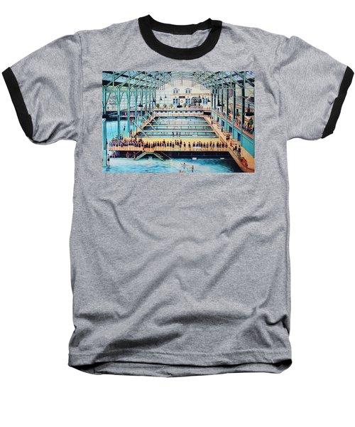 Sutro Baths At The Cliff House Baseball T-Shirt by Natalie Ortiz