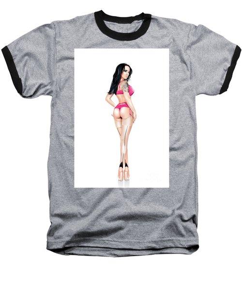 Baseball T-Shirt featuring the digital art Suzie by Brian Gibbs
