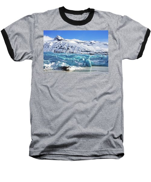 Baseball T-Shirt featuring the photograph Svinafellsjokull Glacier Iceland by Matthias Hauser