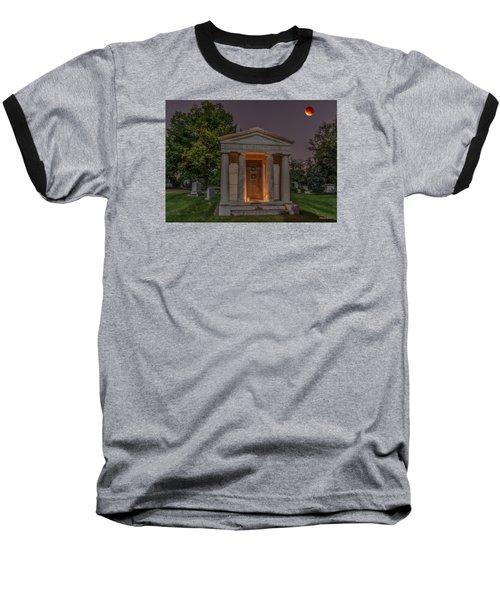 Swallow Mausoleum Under The Blood Moon Baseball T-Shirt
