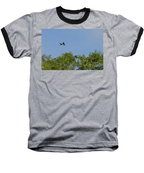 Swallow-tailed Kite Flyover Baseball T-Shirt