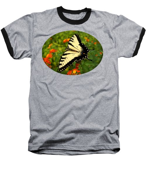 Baseball T-Shirt featuring the photograph Swallowtail Among Lantana by Sue Melvin