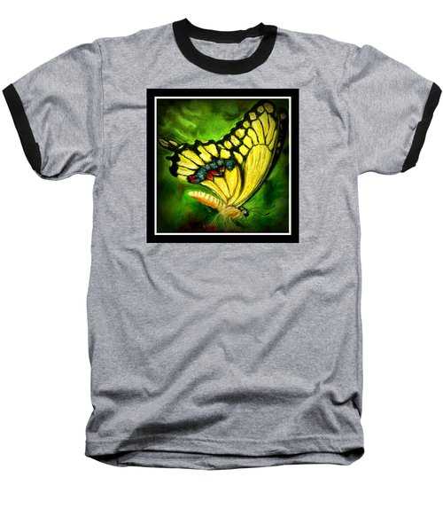 Baseball T-Shirt featuring the pastel Swallowtail by Antonia Citrino