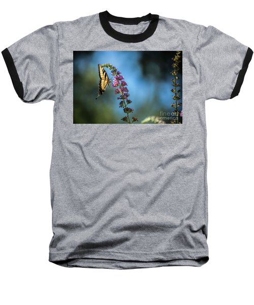 Baseball T-Shirt featuring the photograph Swallowtail Lookout by Judy Wolinsky