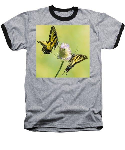 Swallowtails On Thistle  Baseball T-Shirt