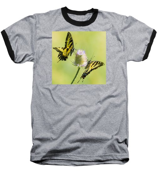 Swallowtails On Thistle  Baseball T-Shirt