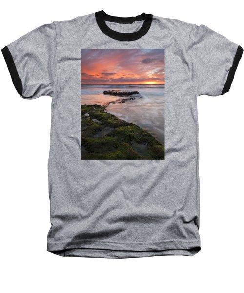 Swami's Beach Sunset Baseball T-Shirt