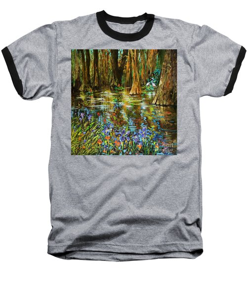 Swamp Iris Baseball T-Shirt