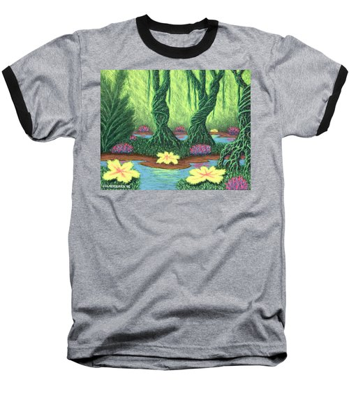 Swamp Things 02, Diptych Panel A Baseball T-Shirt