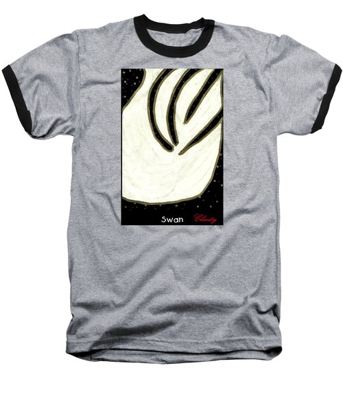 Swan Baseball T-Shirt by Clarity Artists