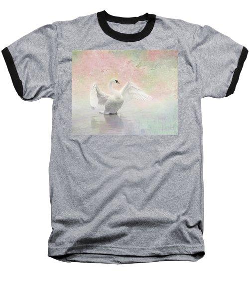 Swan Dream - Display Spring Pastel Colors Baseball T-Shirt