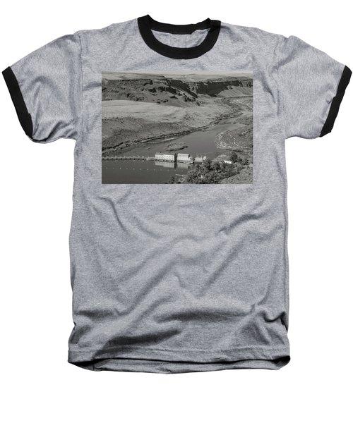 Swan Falls Dam Baseball T-Shirt