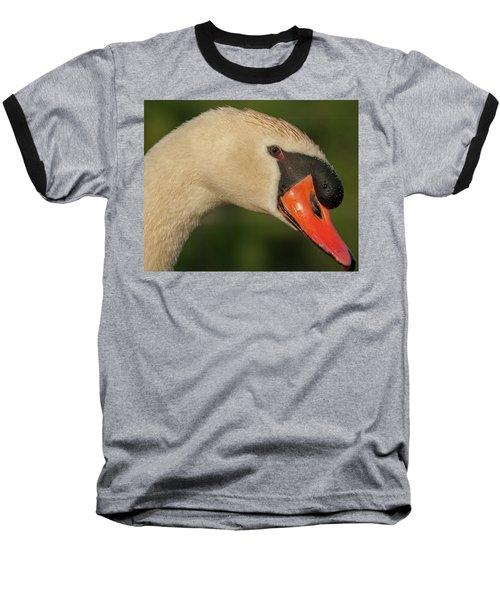 Swan Headshot Baseball T-Shirt