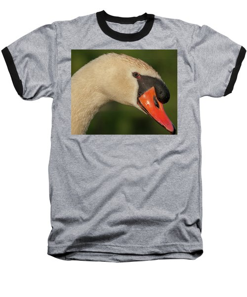 Swan Headshot Baseball T-Shirt